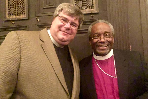 Fr. Matthew with Presiding Bishop Michael Curry